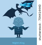king of the night and dragon... | Shutterstock .eps vector #704414440