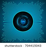 binary circuit future... | Shutterstock .eps vector #704415043