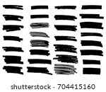 vector set of grunge brush... | Shutterstock .eps vector #704415160