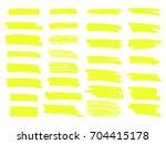 vector highlighter brush lines. ... | Shutterstock .eps vector #704415178