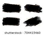 vector black paint  ink brush...   Shutterstock .eps vector #704415460