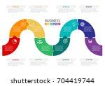 timeline infographics design... | Shutterstock .eps vector #704419744