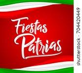 fiestas patrias   national... | Shutterstock .eps vector #704420449