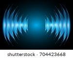 sound waves oscillating dark... | Shutterstock .eps vector #704423668