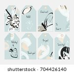 hand drawn creative tags.... | Shutterstock .eps vector #704426140
