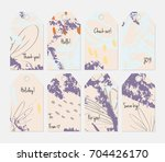hand drawn creative tags.... | Shutterstock .eps vector #704426170