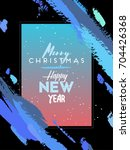 handmade greeting card   merry... | Shutterstock .eps vector #704426368