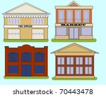 houses | Shutterstock .eps vector #70443478