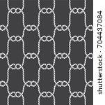 tied fishnet. rope seamless... | Shutterstock .eps vector #704437084