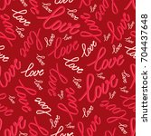 seamless pattern with word love ...