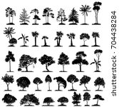 Vector Set Of Trees  Hand Draw...