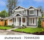 beautiful  newly built luxury... | Shutterstock . vector #704444200