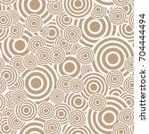 circle seamless pattern.... | Shutterstock .eps vector #704444494