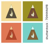 assembly flat icons mountains... | Shutterstock .eps vector #704444698