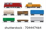 vector illustration freight... | Shutterstock .eps vector #704447464