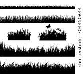 grass border set | Shutterstock . vector #704450644