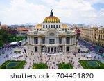 mexico city skyline | Shutterstock . vector #704451820