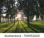park near the sea | Shutterstock . vector #704452624