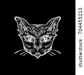 cat head portrait.  ideal... | Shutterstock .eps vector #704455213