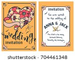 wedding invitation card... | Shutterstock .eps vector #704461348