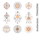 set of sacred geometry.... | Shutterstock . vector #704461846