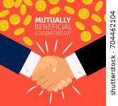 cooperation concept vector...   Shutterstock .eps vector #704462104