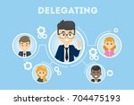 delegating business... | Shutterstock .eps vector #704475193