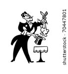 magician pulling rabbit from... | Shutterstock .eps vector #70447801