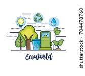 ecology conservation to natural ... | Shutterstock .eps vector #704478760