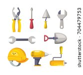 set labor tools to professional ...   Shutterstock .eps vector #704479753