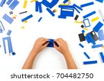 close up of child's hands...   Shutterstock . vector #704482750