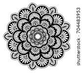 mandalas for coloring book.... | Shutterstock .eps vector #704483953