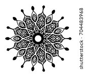 mandalas for coloring book.... | Shutterstock .eps vector #704483968