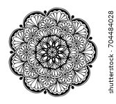 mandalas for coloring book.... | Shutterstock .eps vector #704484028