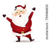 christmas cute  cheerful  funny ... | Shutterstock . vector #704486833