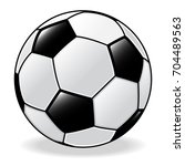 isolated of soccer ball.... | Shutterstock .eps vector #704489563