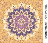 islamic floral pattern in... | Shutterstock .eps vector #704490406