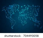 abstract mash line and point... | Shutterstock .eps vector #704493058