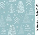 seamless christmas pattern | Shutterstock .eps vector #704493373