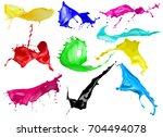 Colorful Paint Splashes...