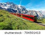 a cog wheel train travels on...