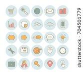 set of modern outline search...   Shutterstock .eps vector #704501779