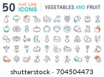 set of line icons in flat... | Shutterstock . vector #704504473