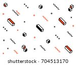 geometric vector pattern with... | Shutterstock .eps vector #704513170