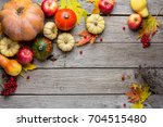 autumn background with yellow... | Shutterstock . vector #704515480