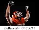 american football sportsman... | Shutterstock . vector #704519710
