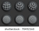 globe icons on black internet...   Shutterstock .eps vector #70452163