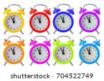 set color alarm clock isolated... | Shutterstock . vector #704522749