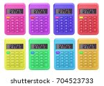 set color calculator isolated... | Shutterstock . vector #704523733