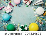 holiday frame or background... | Shutterstock . vector #704524678